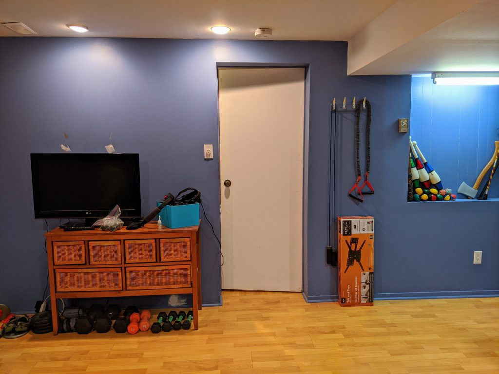 DIY multi-purpose basement gym remodel Montreal lifestyle fashion beauty blog 3
