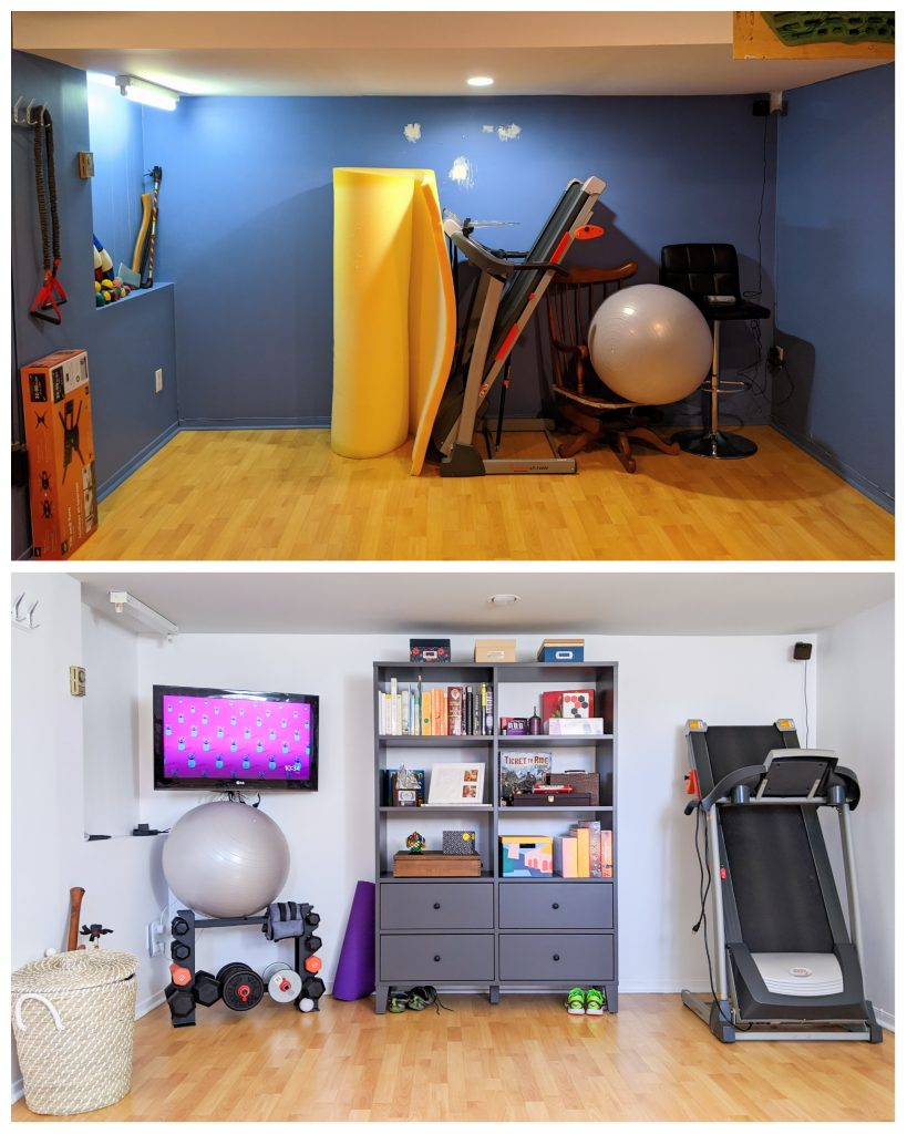 before and after DIY basement remodel Montreal lifestyle fashion beauty blog 1