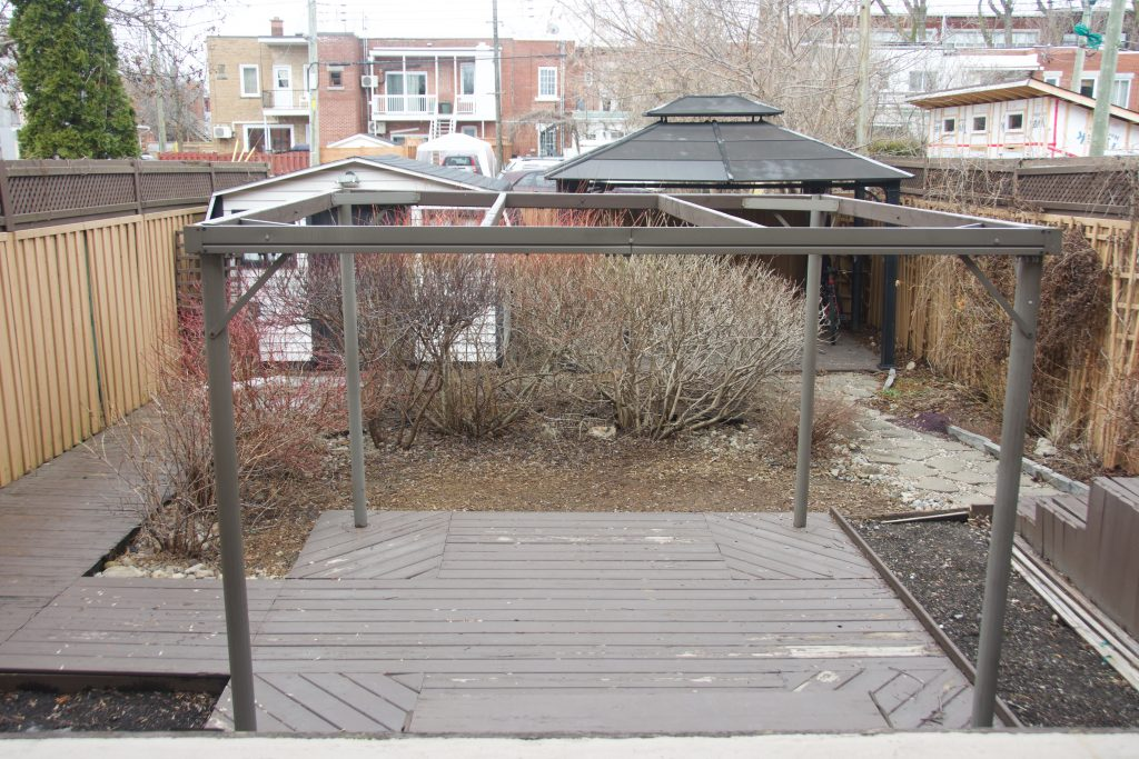 before backyard landscaping garden makeover Montreal lifestyle fashion beauty blog