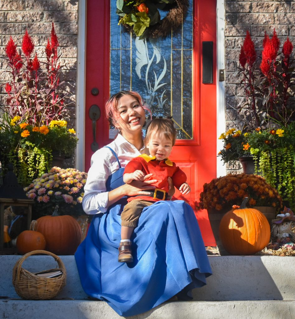 DIY toddler Gaston Halloween costume Montreal lifestyle fashion beauty blog 3