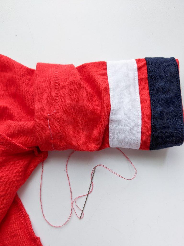 sew arms DIY toddler Gaston Halloween costume Montreal lifestyle fashion beauty blog