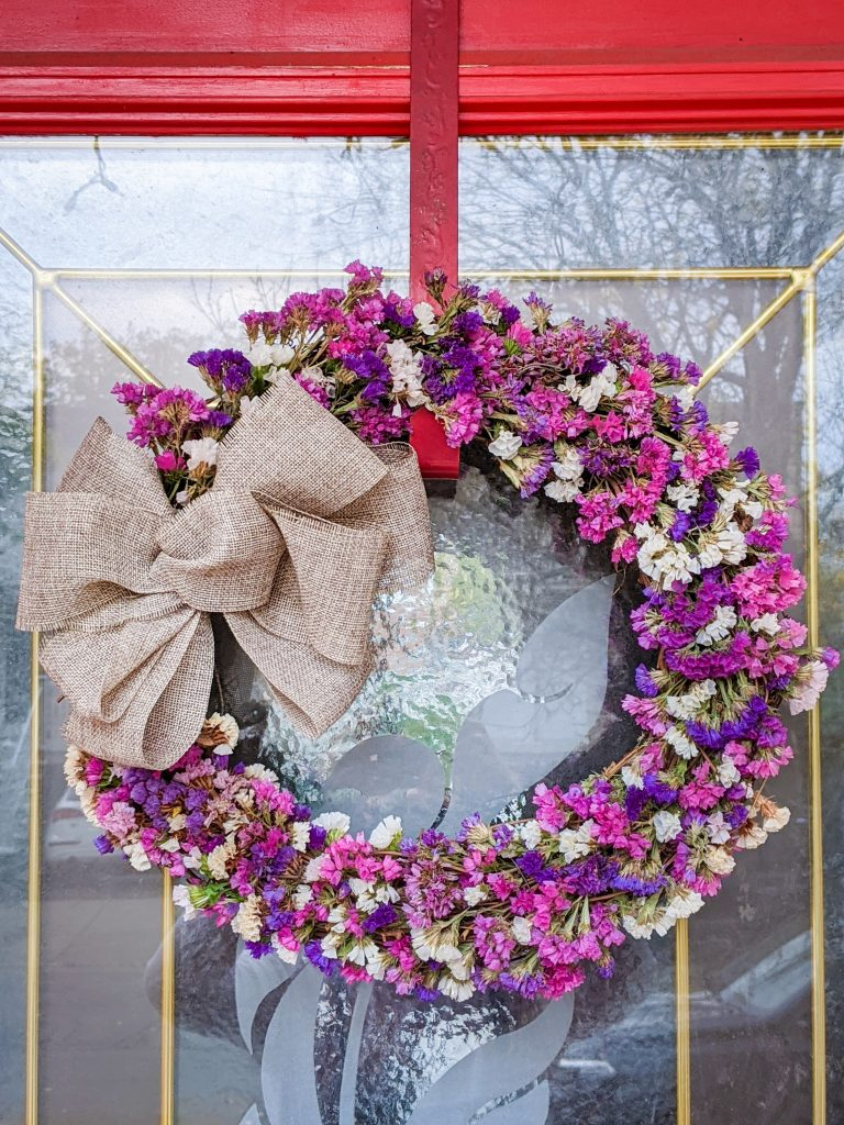 DIY dried floral wreath Montreal lifestyle fashion beauty blog 2