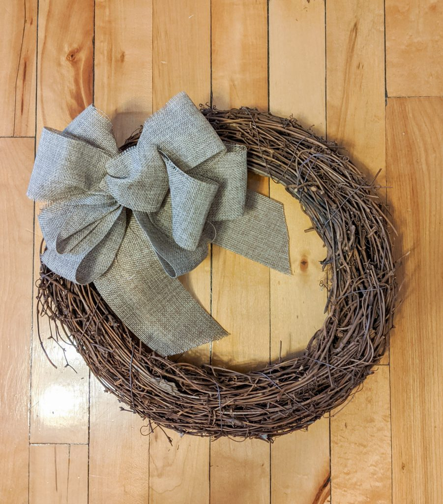 grapevine wreath DIY dried floral wreath Montreal lifestyle fashion beauty blog