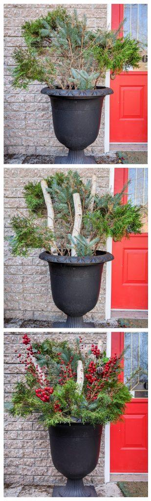 DIY easy holiday planter Montreal lifestyle fashion beauty blog 2