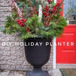 DIY easy holiday planter Montreal lifestyle fashion beauty blog 2