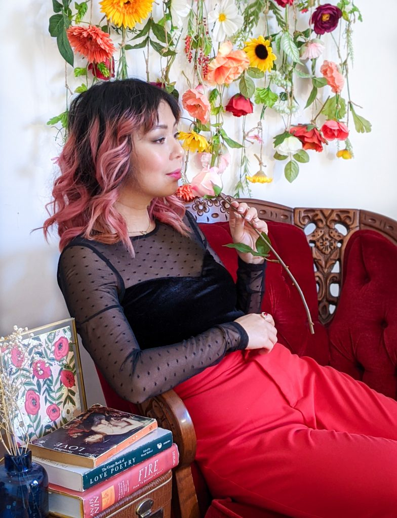 polka dot mesh velvet sweatheart top red trousers stay-at-home Valentine's Day date night Montreal fashion lifestyle beauty blog 2
