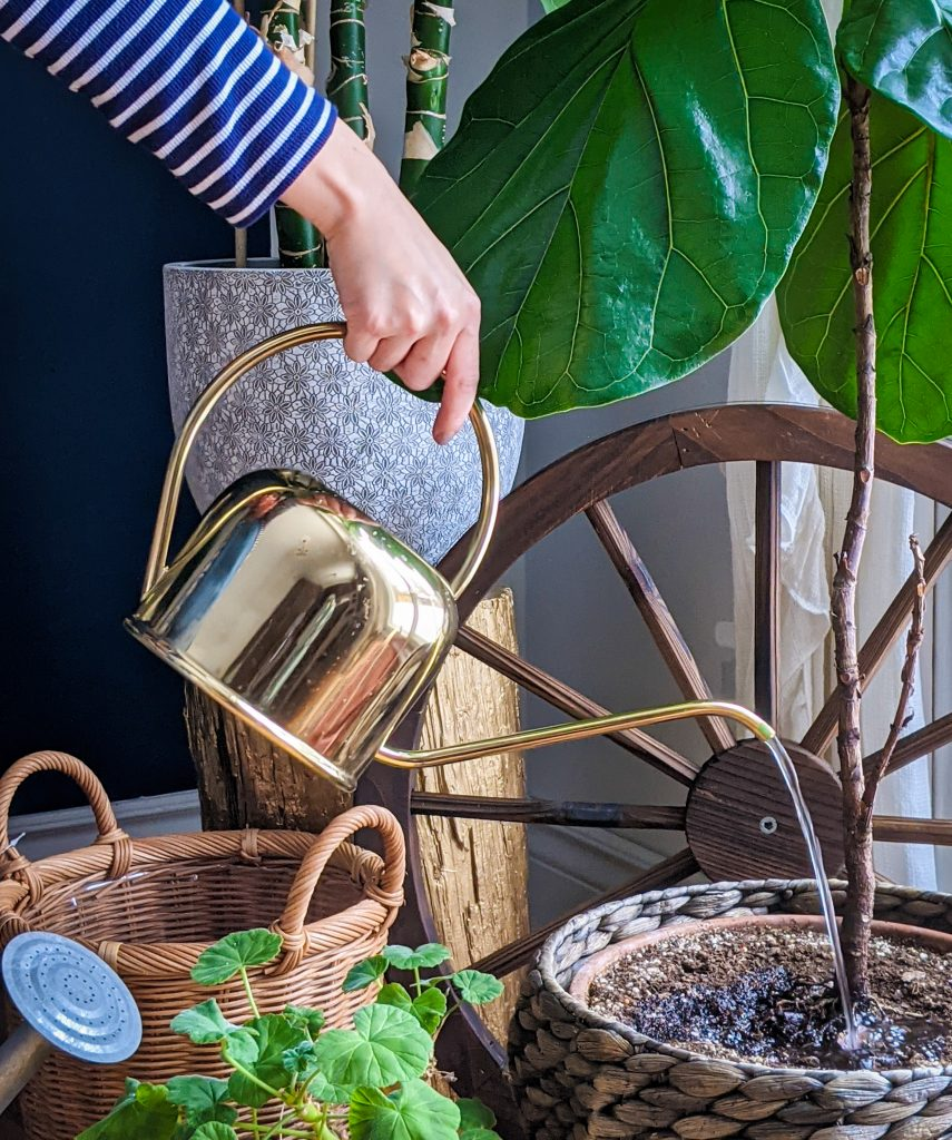H&M gold watering can gardening gear favourites Montreal lifestyle fashion beauty blog 1