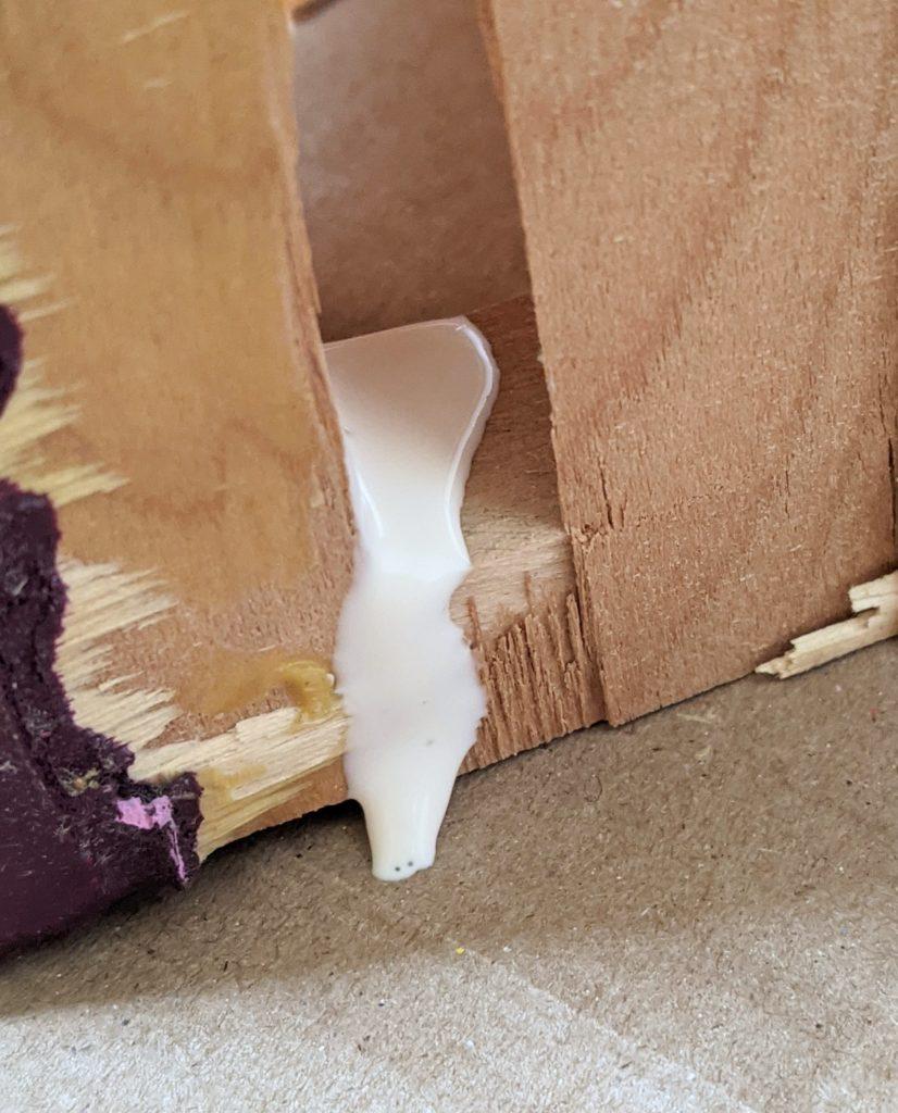 wood glue broken piece DIY thrifted dresser remodel makeover Montreal lifestyle fashion beauty blog