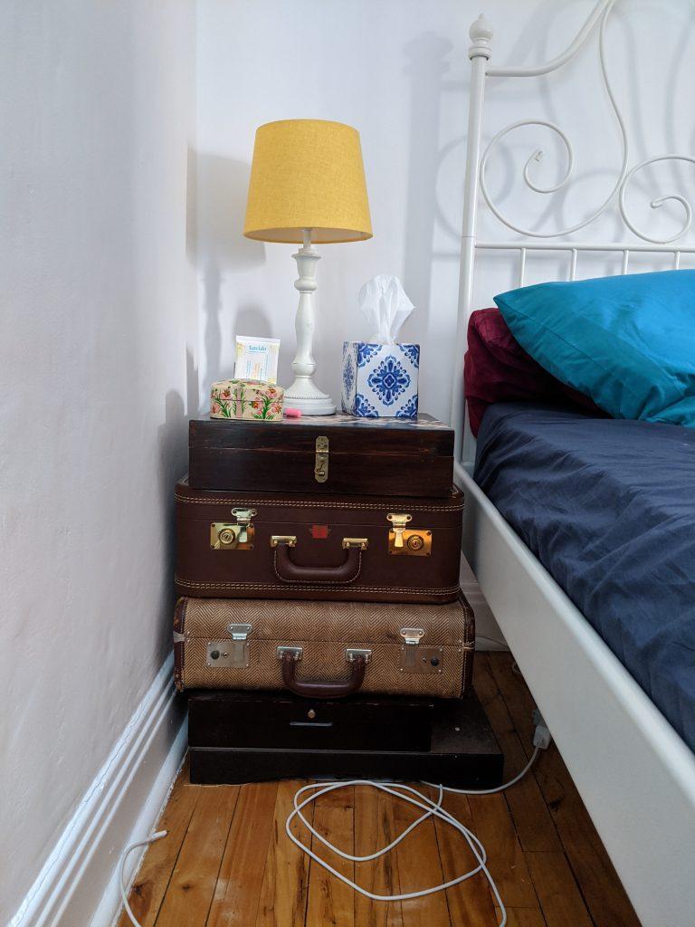 before bedside tables DIY master bedroom remodel makeover Montreal lifestyle fashion beauty blog