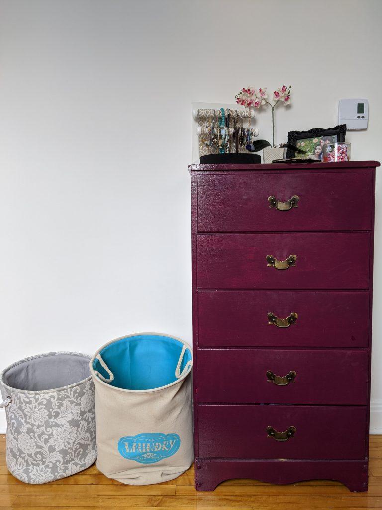 before dresser DIY master bedroom remodel makeover Montreal lifestyle fashion beauty blog