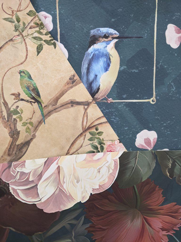 wallpaper samples DIY master bedroom remodel Montreal lifestyle fashion beauty blog