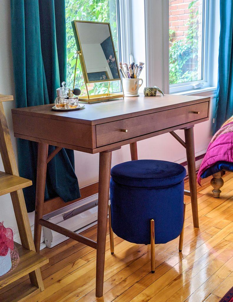 vanity after DIY master bedroom makeover remodel Montreal lifestyle fashion beauty blog
