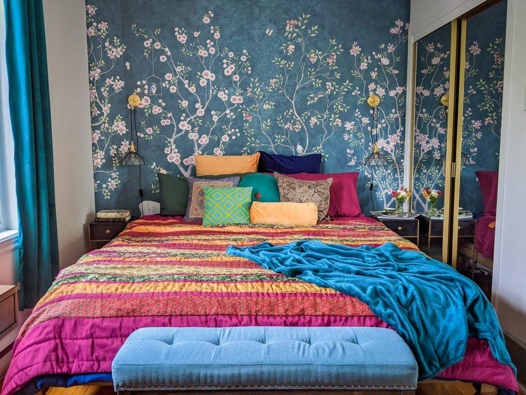 after DIY master bedroom makeover remodel Montreal lifestyle fashion beauty blog 2