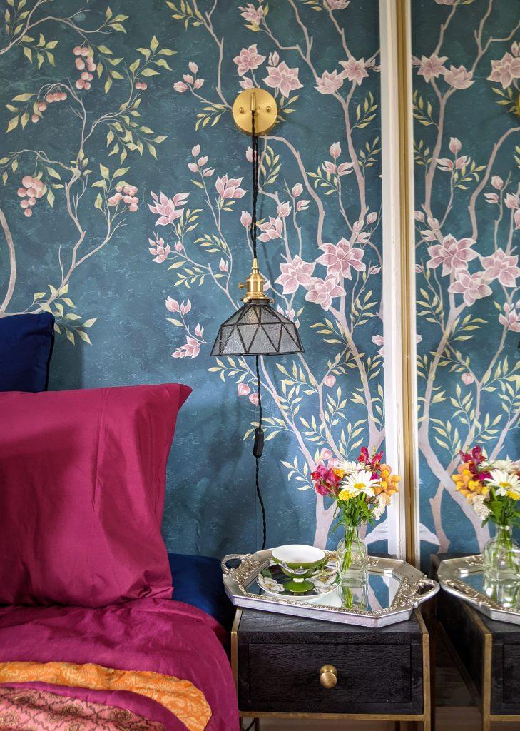 after side table DIY master bedroom makeover remodel Montreal lifestyle fashion beauty blog