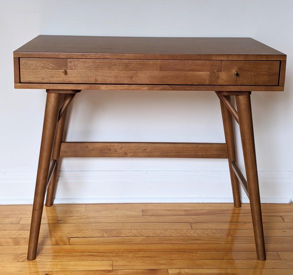 Lundquist Solid Wood Desk George Oliver Wayfair