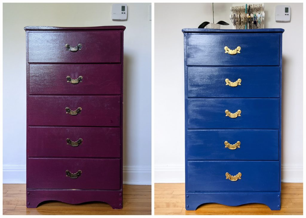before and after DIY thrifted dresser remodel makeover Montreal lifestyle fashion beauty blog
