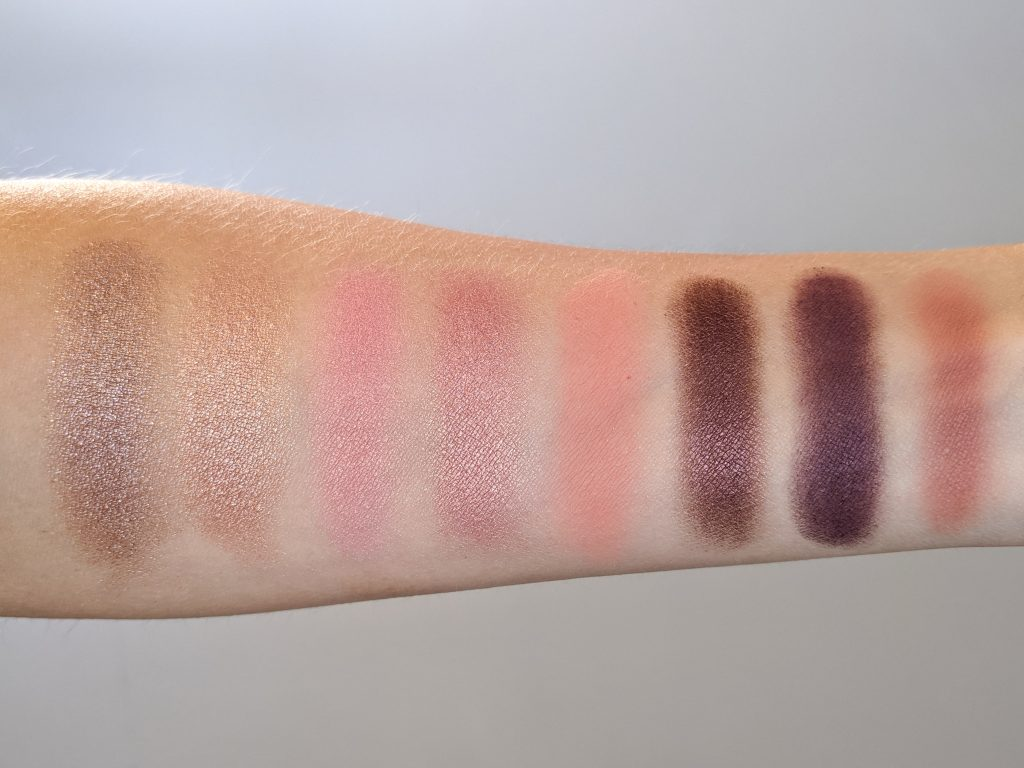 swatch Buxom Mink Magnet, Too Faced Sweet Peach Palette (Luscious, Just Peachy, Bellini, Candied Peach, Peach Pit, Delectable), Coastal Scents Paprika Montreal beauty fashion lifestyle blog